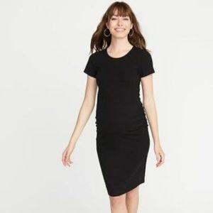 Old Navy Maternity Jersey Bodycon Black Dress